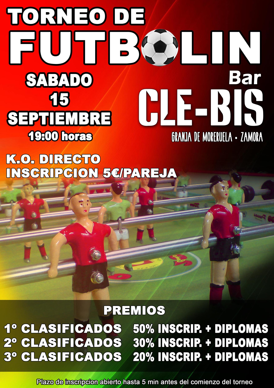 Cartel Torneo Futbolín